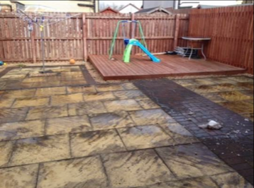 Patio Cleaning Cambuslang Before
