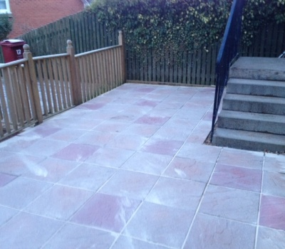 Patio After Pressure Cleaning