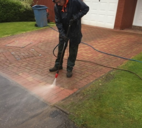 driveway cleaning Glasgow Before